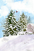 Ithaca Painting Prints - Winter Delight Print by Melly Terpening