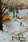 Cropped Painting Prints - Winter Memories 3 of 4 Print by Doug Kreuger