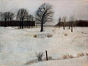 Snow Pastels - Winter Oaks by Jack Spath