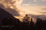 Mick Anderson Prints - Winter Sunset over Grants Pass Print by Mick Anderson