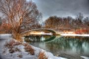 Bridge Prints Prints - Winter Tranquility Print by James Marvin Phelps
