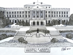 University Campus Drawings Originals - Wisconsin by Frederic Kohli