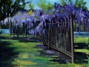 Vine Paintings - Wisteria by Robert James Hacunda