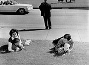 Candid Family Portraits Posters - Witnesses To The Kennedy Assassination Poster by Everett