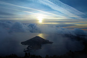 Crater Lake Sunset Prints - Wizard Sunrise Print by Adam Jewell