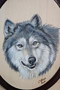 Pet Portraits Pyrography - Wolf by John Tatham