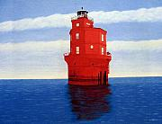 Lighthouse Paintings - Wolf Trap Lighthouse by Frederic Kohli