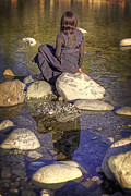 Sitting Photos - Woman At The River by Joana Kruse