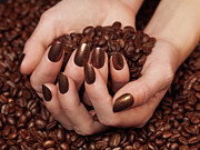 Coffee Beans Photos - Woman Holding Coffee Beans in Her Hands by Oleksiy Maksymenko