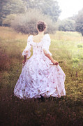 Jane Austen Posters - Woman In A Meadow Poster by Joana Kruse