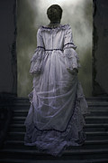 Spooky Photo Posters - Woman On Steps Poster by Joana Kruse