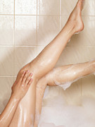 Bathe Posters - Woman Taking a Bath Poster by Oleksiy Maksymenko