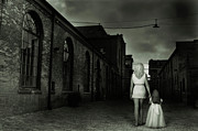 Despair Prints - Woman Walking Away with a Child Print by Oleksiy Maksymenko
