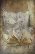 Texture Flower Posters - Woman With A Book Poster by Joana Kruse