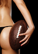Voluptuous Photo Prints - Woman with a Football Print by Oleksiy Maksymenko