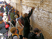 Women Of The Wailing Wall Posters - Women at the Western Wall of the Second Temple in Jerusalem Poster by Ruth Hager