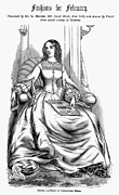 Corset Dress Framed Prints - Womens Fashion, 1860 Framed Print by Granger