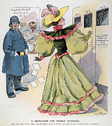 1894 Prints - Womens Rights Cartoon Print by Granger