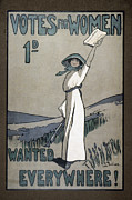 Women Suffrage Prints - Womens Rights Print by Granger