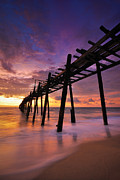 Tropical Sunset Originals - Wood Bridge by Teerapat Pattanasoponpong