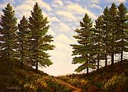 Pacific Crest Trail Paintings - Wooded Path by Frank Wilson