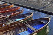 Rowing Boats Prints - Wooden Boats Print by Joana Kruse