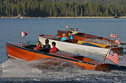Chris Craft Photos - Wooden Boats on Lake Tahoe by Steven Lapkin