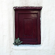 Greece Photo Prints - Wooden Window Print by Joana Kruse