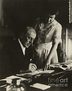 Woodrow Posters - Woodrow Wilson, 28th American President Poster by Photo Researchers