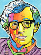 Movie Star Paintings - Woody Allen by Dean Russo
