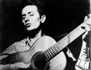 Guitarist Posters - Woody Guthrie (1912-1967) Poster by Granger