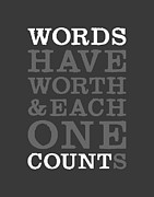 Words Digital Art Prints - Words Count Print by Megan Romo