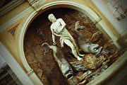 Statue Pyrography Prints - World Showcase - Italy Pavillion Print by AK Photography