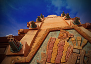 Blue Sky Pyrography - World Showcase - Mexico Pavillion by AK Photography