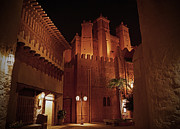 Night Pyrography Prints - World Showcase - Morocco Pavillion Print by AK Photography