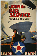 U.s. Air Force Framed Prints - World War I: Air Service Framed Print by Granger