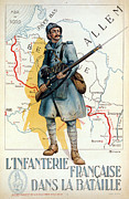 France Map Prints - World War I: French Poster Print by Granger