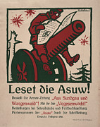 Rudolph Posters - World War I, German Poster Shows Poster by Everett