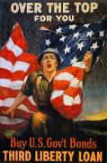 Over The Top Prints - World War I: Liberty Loan Print by Granger