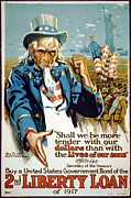 Uncle Sam Posters - World War I, Poster Showing Uncle Sam Poster by Everett