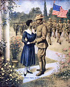 Colored Troops Posters - World War I: Recruitment Poster by Granger