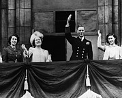 Queen Elizabeth Ii Metal Prints - World War Ii. From Left Future British Metal Print by Everett