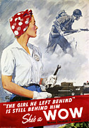 Kerchief Prints - World War Ii Poster Print by Granger