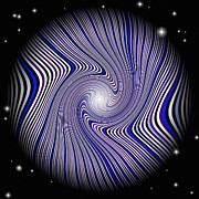 Op Art Digital Art Posters - Wormhole Trip Poster by Pet Serrano