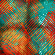 Tangerine Digital Art Prints - Woven Print by Bonnie Bruno