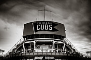 Friendly Confines Posters - Wrigley Field Bleachers in Black and White Poster by Anthony Doudt