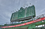 Scoreboard Framed Prints - Wrigley Scoreboard Framed Print by David Bearden