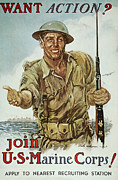 James Montgomery Framed Prints - Wwii Recruiting Poster Framed Print by Granger