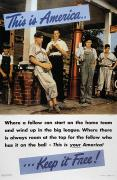 Baseball Poster Prints - Wwii: Us Poster, 1942 Print by Granger