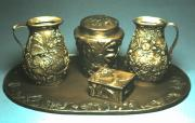 Wyoming Reliefs Prints - Wyoming Wildflowers Bronze Set Print by Dawn Senior-Trask